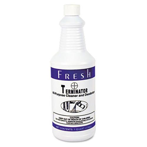 Fresh Products Terminator Deodorizer All-Purpose Cleaner  32oz Bottles  12 Carton (FRS 12-32-TN)