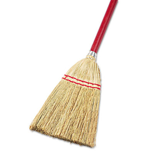 Boardwalk Lobby Toy Broom  Corn Fiber Bristles  39  Wood Handle  Red Yellow (UNS 951T)