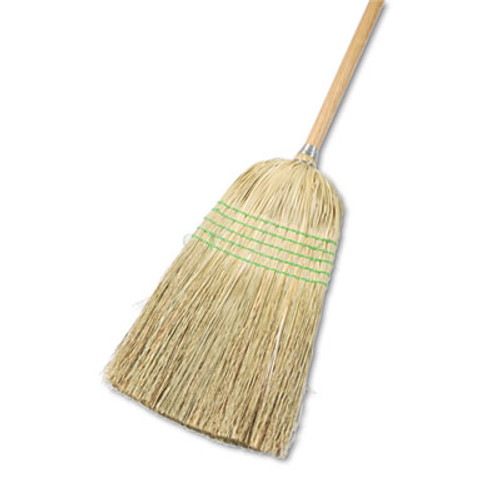 Boardwalk Parlor Broom  Yucca Corn Fiber Bristles  56   Wood Handle  Natural  12 Carton (UNS 926Y)