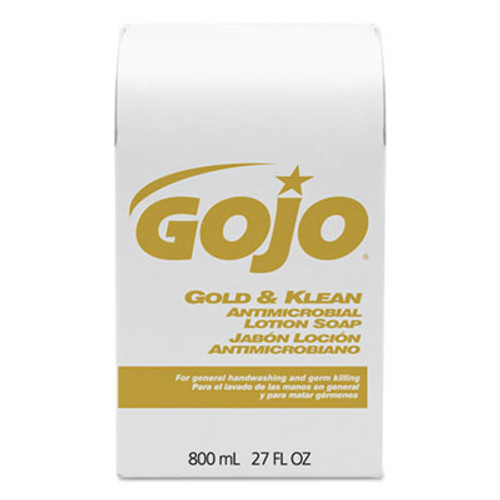 GOJO Gold & Klean Lotion Soap Bag-in-Box Dispenser Refill, Floral Balsam, 800mL (GOJ 9127-12)