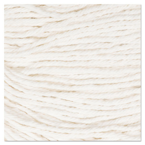 Boardwalk Super Loop Wet Mop Head  Cotton Synthetic Fiber  5  Headband  Medium Size  White  12 Carton (UNS 502WH)