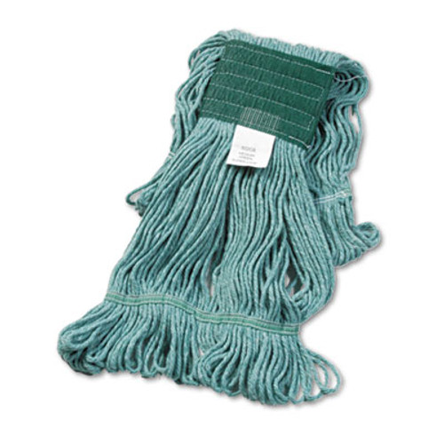 Boardwalk Super Loop Wet Mop Head  Cotton Synthetic Fiber  5  Headband  Medium Size  Green  12 Carton (UNS 502GN)