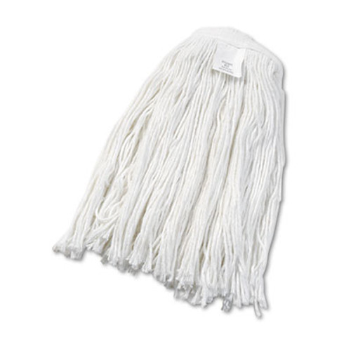 Boardwalk Cut-End Wet Mop Head  Rayon  No  24  White  12 Carton (UNS 2024R)