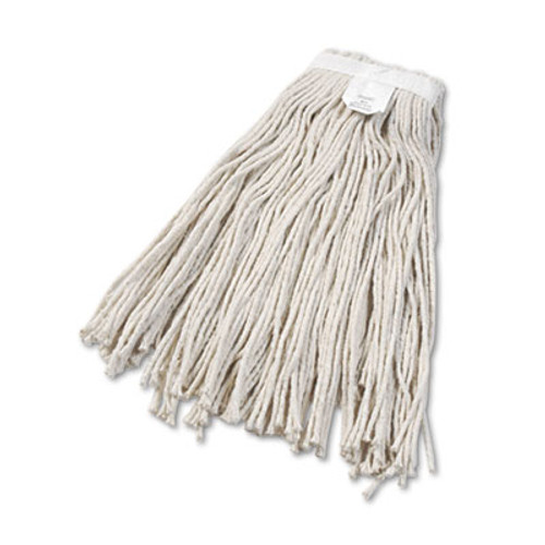 Boardwalk Cut-End Wet Mop Head  Cotton  No  24  White 12 Carton (UNS 2024C)