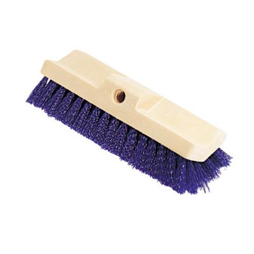 Rubbermaid Commercial Bi-Level Deck Scrub Brush  Polypropylene Fibers  10 Plastic Block  Tapered Hole (RCP 6337 BLU)