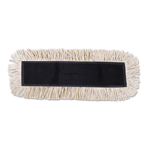 Boardwalk Disposable Cut End Dust Mop Head  Cotton Synthetic  24w x 5d  White (UNS 1624)