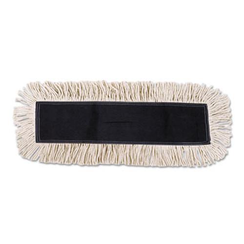 Boardwalk Disposable Cut End Dust Mop Head  Cotton Synthetic  24w x 5d  White (UNS 1624)