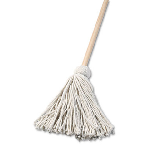 "Boardwalk Deck Mop, 48"" Wooden Handle, 16oz Cotton Fiber Head (UNS 116C)"