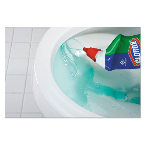 Clorox Toilet Bowl Cleaner with Bleach  Fresh Scent  24oz Bottle  12 Carton (CLO00031CT)
