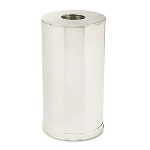 Rubbermaid Commercial European & Metallic Series Drop-In Top Receptacle, Round, 15gal, Satin Stainless (RCP CC16SSS)