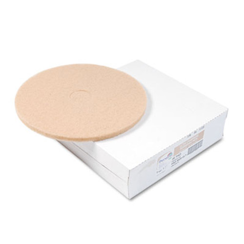Boardwalk Tan Burnishing Floor Pads  20  Diameter  5 Carton (PAD 4020 ULT)