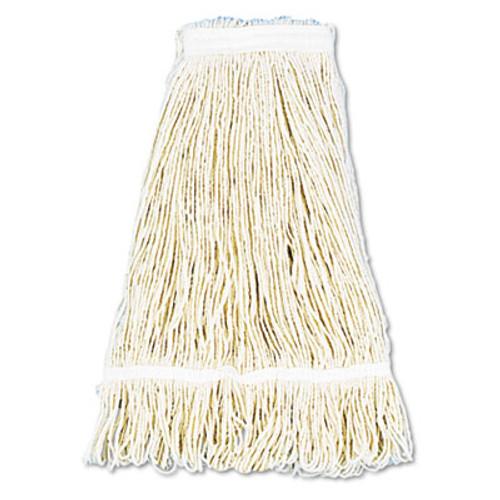 Boardwalk Pro Loop Web Tailband Wet Mop Head  Cotton  24oz  White  12 Carton (UNS 424C)