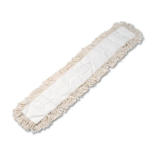 Boardwalk Industrial Dust Mop Head  Hygrade Cotton  48w x 5d  White (UNS 1348)