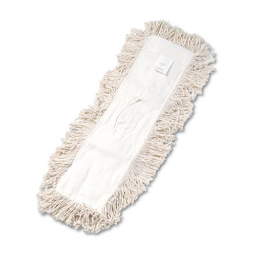Boardwalk Industrial Dust Mop Head  Hygrade Cotton  24w x 5d  White (UNS 1324)