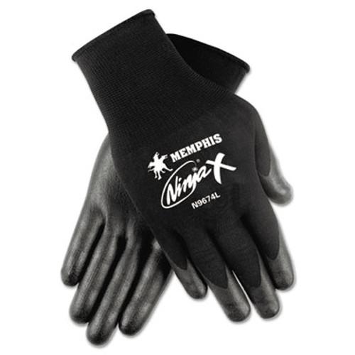 MCR Safety Ninja x Bi-Polymer Coated Gloves  Large  Black  Pair (CRWN9674L)