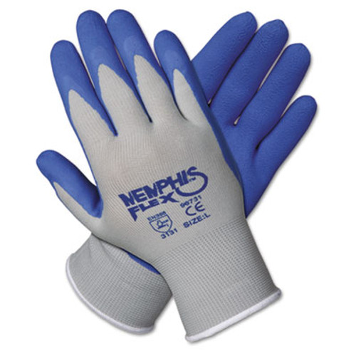 Memphis Memphis Flex Seamless Nylon Knit Gloves, Small, Blue/Gray, Dozen (MCR 96731S)