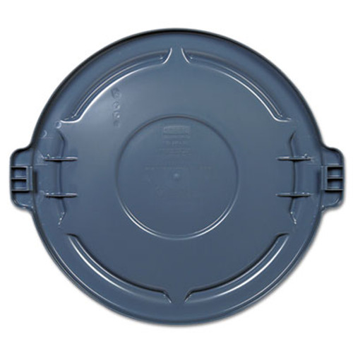 Rubbermaid Commercial Vented Round BRUTE Lid  24 5 dia x 1 5h  Gray (RCP 2645-60 GRA)