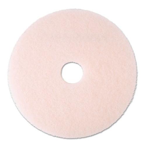 3M Ultra High-Speed Eraser Floor Burnishing Pad 3600  20  Diameter  Pink  5 Carton (MCO 25858)