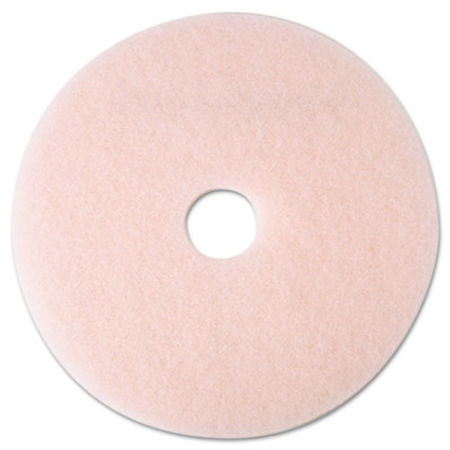 """3M Ultra High-Speed Eraser Floor Burnishing Pad 3600, 19"""", Pink, 5/Carton (MCO 25857)"""