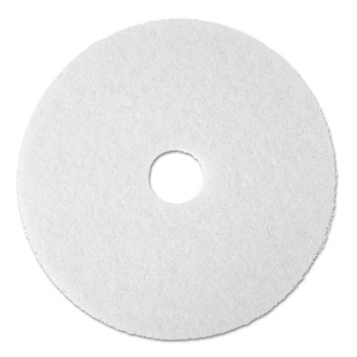 "3M Super Polish Floor Pad 4100, 20"", White, 5/Carton (MCO 08484)"