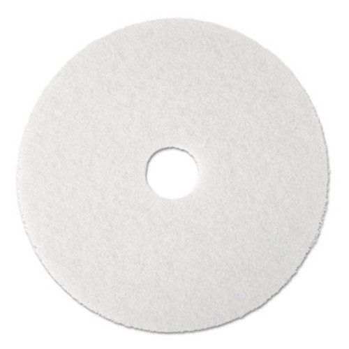"3M Super Polish Floor Pad 4100, 19"", White, 5/Carton (MCO 08483)"