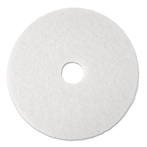 "3M Super Polish Floor Pad 4100, 17"", White, 5/Carton (MCO 08481)"