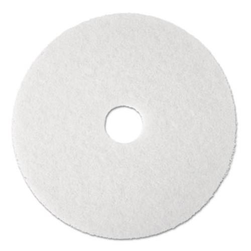 3M Super Polish Floor Pad 4100  17  Diameter  White  5 Carton (MCO 08481)