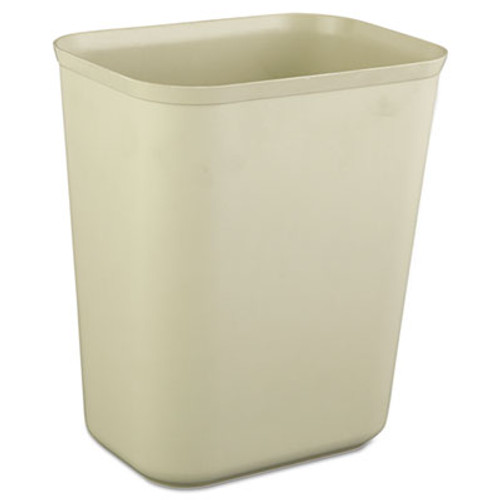 Rubbermaid Commercial Fire-Resistant Wastebasket, Rectangular, Fiberglass, 1.75gal, Beige (RCP 2540 BEI)