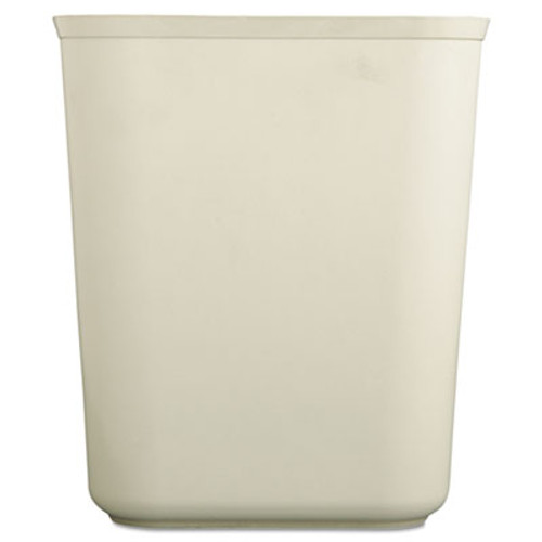 Rubbermaid Commercial Fire-Resistant Wastebasket  Rectangular  Fiberglass  1 75 gal  Beige (RCP 2540 BEI)
