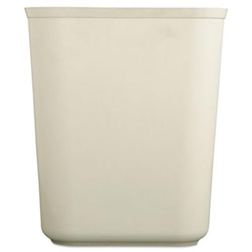Rubbermaid Commercial Fire-Resistant Wastebasket  Rectangular  Fiberglass  1 75 gal  Beige (RCP 2540 BEI)