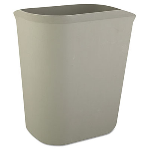 Rubbermaid Commercial Fire-Resistant Wastebasket, Rectangular, Fiberglass, 3.5gal, Gray (RCP 2541 GRA)