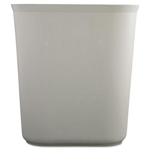 Rubbermaid Commercial Fire-Resistant Wastebasket  Rectangular  Fiberglass  3 5 gal  Gray (RCP 2541 GRA)