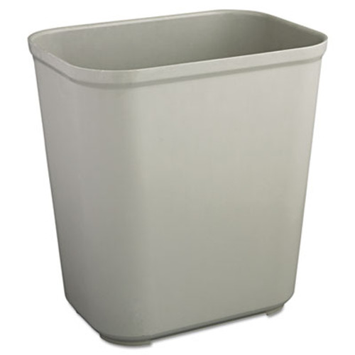 Rubbermaid Commercial Fire-Resistant Wastebasket, Rectangular, Fiberglass, 7gal, Gray (RCP 2543 GRA)