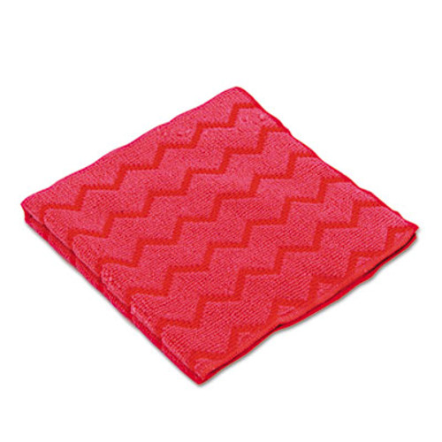 Rubbermaid Commercial HYGEN Microfiber Cleaning Cloths  16 x 16  Red  12 Carton (RCP Q620 RED)
