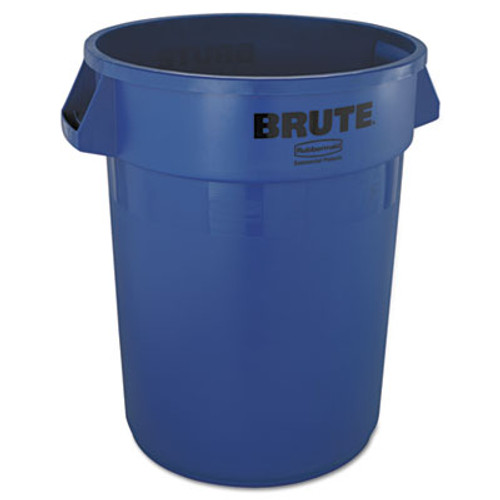 Rubbermaid Commercial Round Brute Container  Plastic  32 gal  Blue (RCP 2632 BLU)