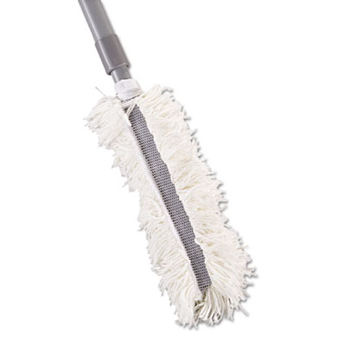 Rubbermaid Commercial Super HiDuster Dusting Tool with Straight Lauderable Head  61  Extension Handle (RCP T130)