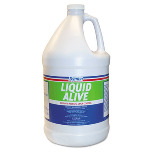 Dymon LIQUID ALIVE Odor Digester  1 gal Bottle  4 Carton (DYM 33601)