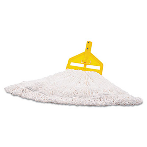 Rubbermaid Commercial Nylon Finish Mop Head  Medium  White  6 Carton (RCP T200-06)
