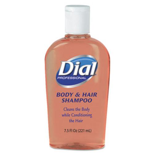 Dial Professional Body & Hair Care, Peach Scent, 7.5oz Flip-Cap Bottle, 24/Carton (DIA 04014)