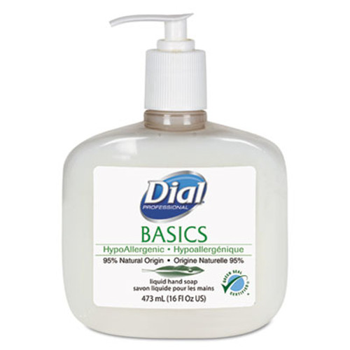 Dial Professional Basics Liquid Hand Soap  Fresh Floral  16 oz Pump  12 Carton (DIA 06044)