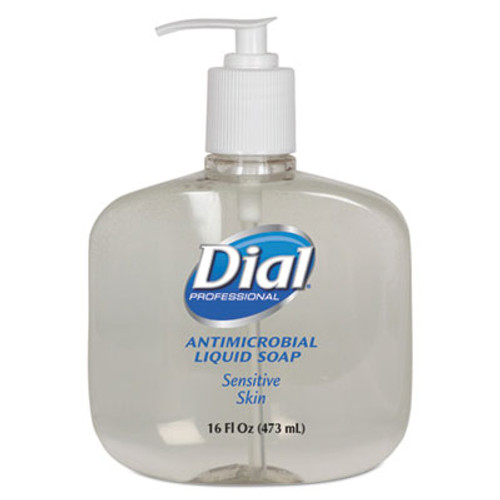 Dial Professional Antimicrobial Soap for Sensitive Skin, 16oz Pump Bottle, 12/Carton (DIA 80784)