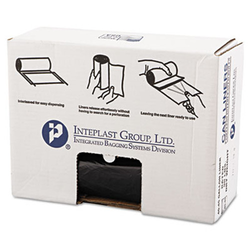 Inteplast Group High-Density Commercial Can Liners Value Pack  45 gal  19 microns  40  x 46   Black  150 Carton (IBS VALH4048K22)