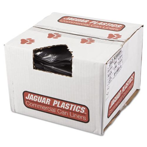 Jaguar Plastics Repro Low-Density Can Liners  60 gal  1 5 mil  38  x 58   Black  100 Carton (JAG R3858H)