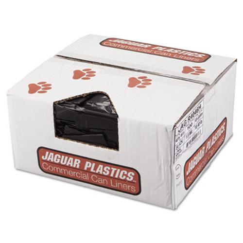 Jaguar Plastics Repro Low-Density Can Liners  45 gal  1 5 mil  40  x 46   Black  100 Carton (JAG R4046H)