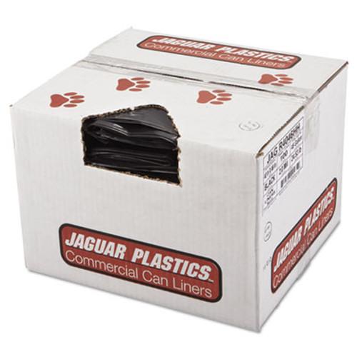 Jaguar Plastics Repro Low-Density Can Liners, 2 Mil, 40 x 46, Black, 100/Carton (JAG R4046HH)
