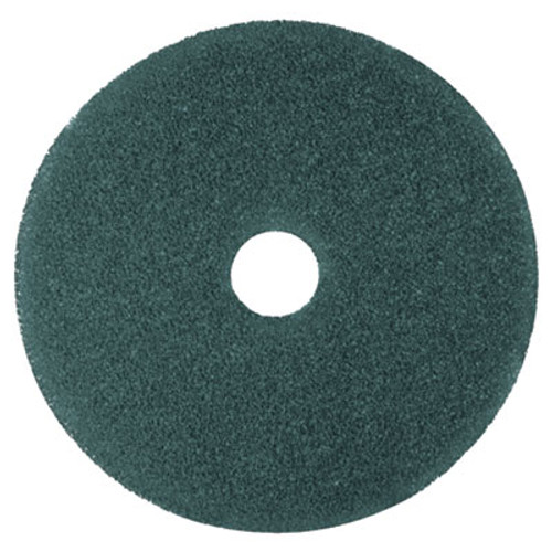 "3M Cleaner Floor Pad 5300, 12"", Blue, 5/Carton (MCO 08405)"