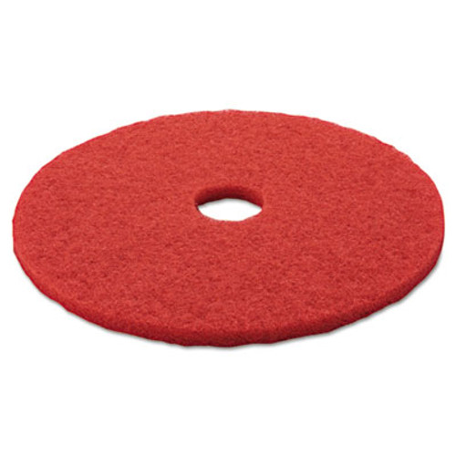 "3M Red Buffer Floor Pads 5100, Low-Speed, 20"", 5/Carton (MCO 08395)"