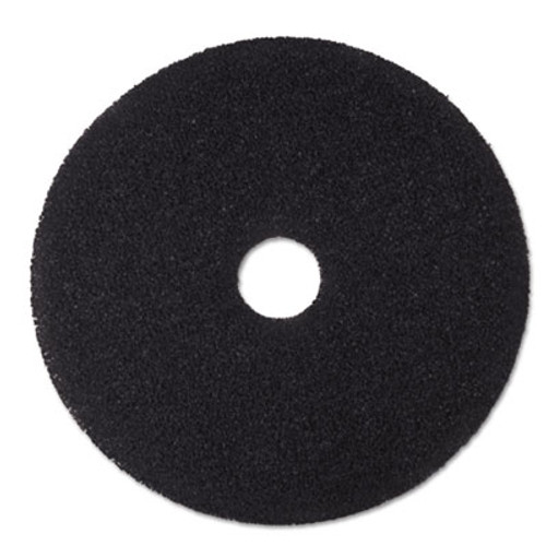 3M Low-Speed Stripper Floor Pad 7200  19  Diameter  Black  5 Carton (MCO 08381)