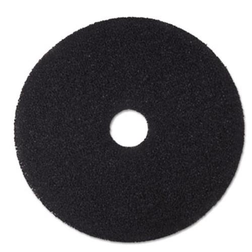 3M Low-Speed Stripper Floor Pad 7200  19  Diameter  Black  5 Carton (MCO 08381)