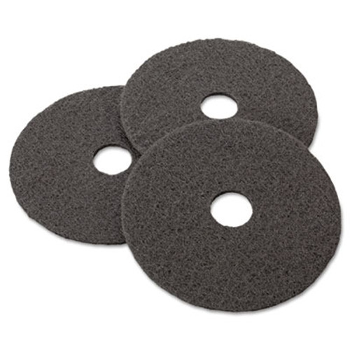 3M Low-Speed Stripper Floor Pad 7200  17  Diameter  Black  5 Carton (MCO 08379)